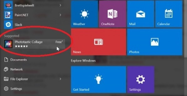 Sugerencias en Windows 10