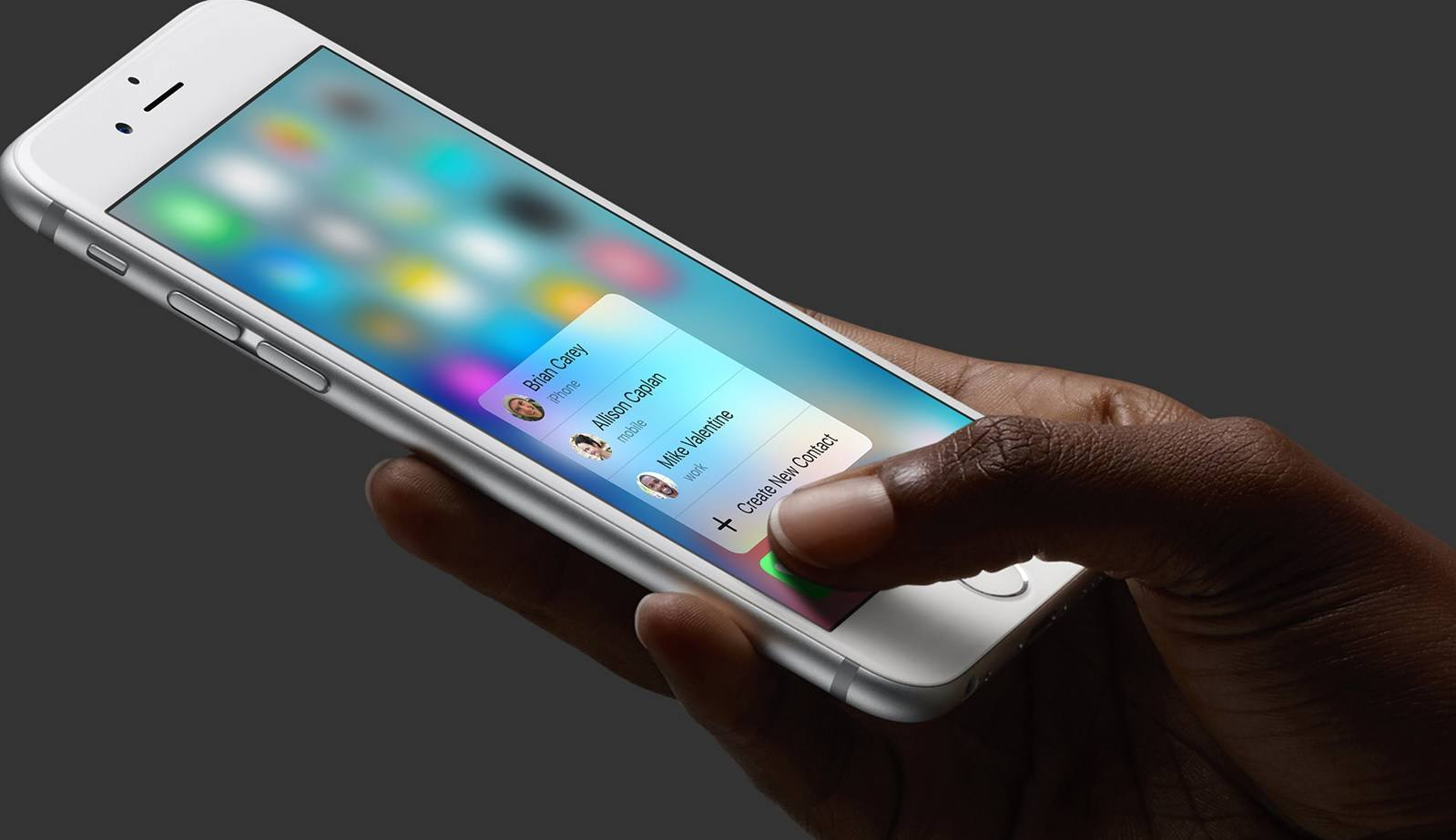 3D Touch en el iPhone 6