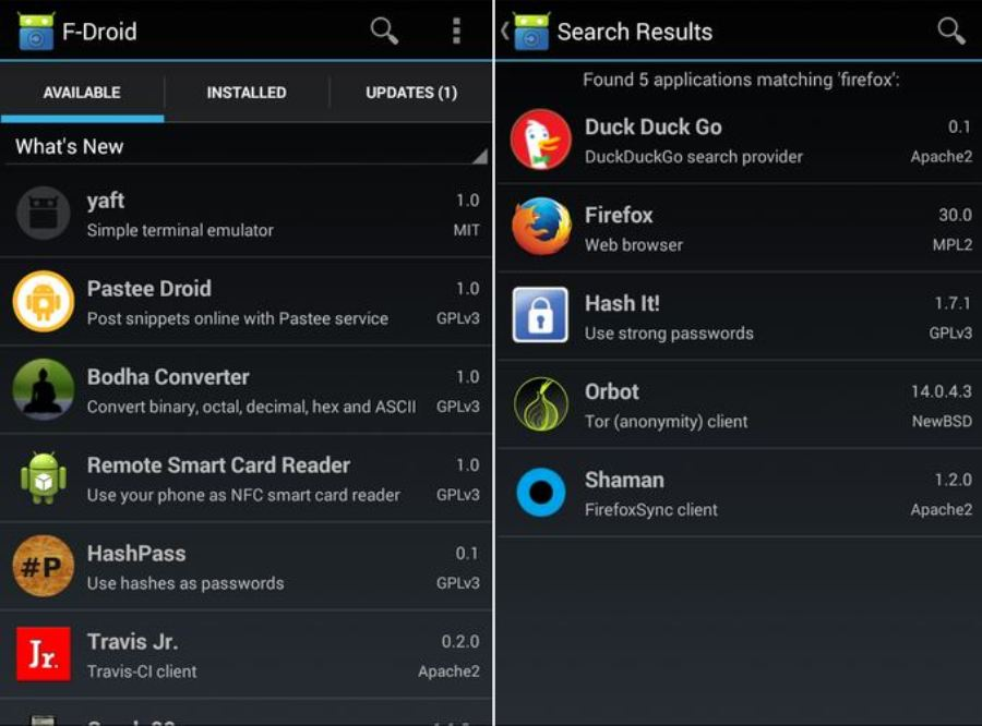 F-Droid - alternativa a Google Play con aplicaciones gratuitas y open-source