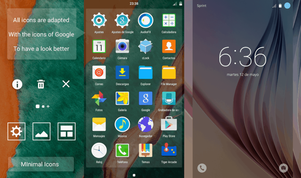 Interfaz TouchWiz en Galaxy S6