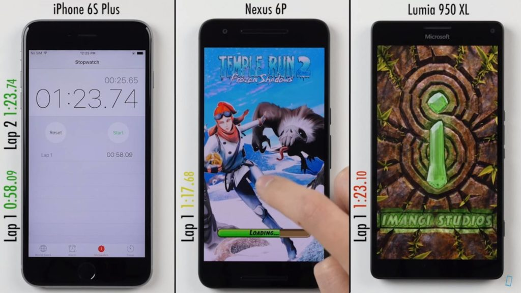 iPhone 6S Plus vs Nexus 6P vs Lumia 950 XL