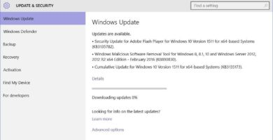 Actualizaciones cumulativas kb3135173 y kb3135174-windows 10