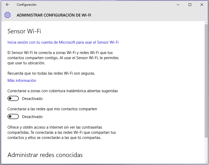 wifi compartido Windows 10