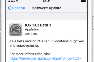 Actualización iOS 10.3 Beta 3