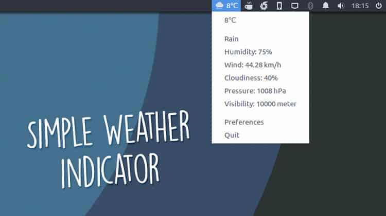 Simple Weather Indicator en Ubuntu