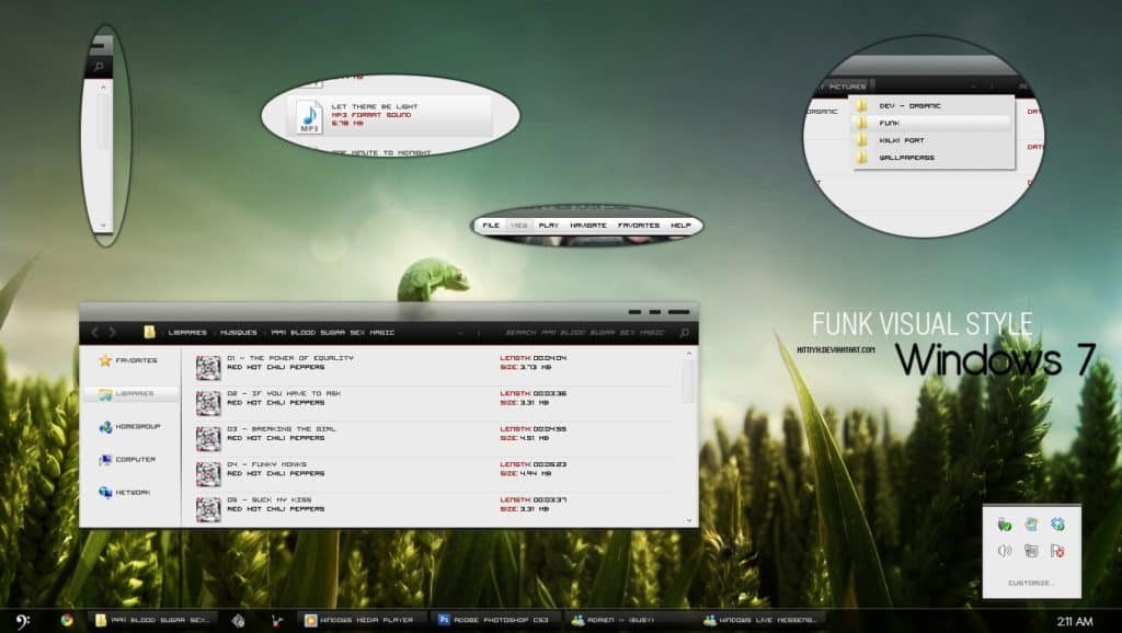 tema black funk para windows 7