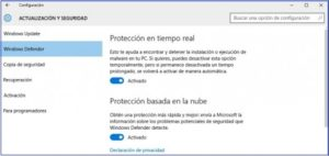 Windows Defender 10.