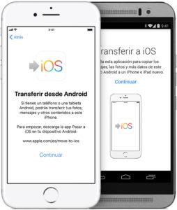 Transferir datos desde Android a Iphne