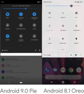 Android 9 pie brillo.