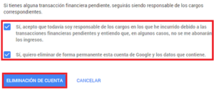 eliminar cuenta gmail pc.
