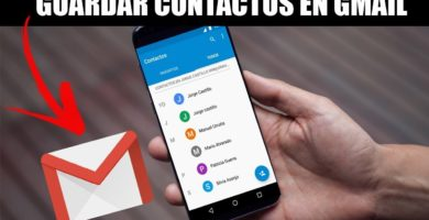 guardar contactos en gmail.