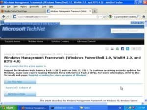 Powershell Windows XP