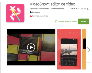 Editor de videos Video Show para Pc