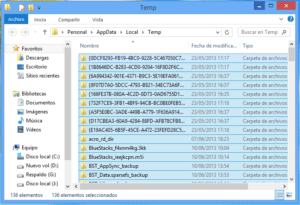 Archivos temporales Windows 8.