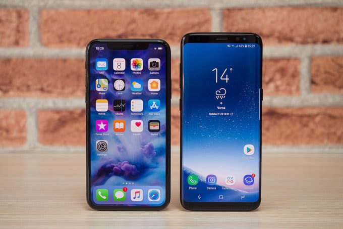 iphone x vs samsung s9 plus 2.