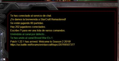 jugando a Starcraft Brood War